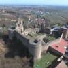 Luftbildansicht der Burg Neuleiningen aus Südwesten