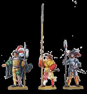 Stangenwaffen der Landsknechte: Hellebarde, Langspieß, Pike