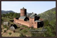 Burgrekonstruktion des Steinenschloss (1150)