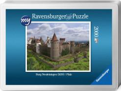 Für den fortgeschrittenen Puzzler: Puzzeln Sie die fotorealistische Rekonstruktion der Kastellburg Neuleiningen des Jahres 1620 aus der gezoomten Nordwestansicht. Sie erhalten ein qualitätsvolles Ravensburger-Puzzle (2000 Teile) in einer Verpackungsbox. Maße des fertigen Puzzles: 98