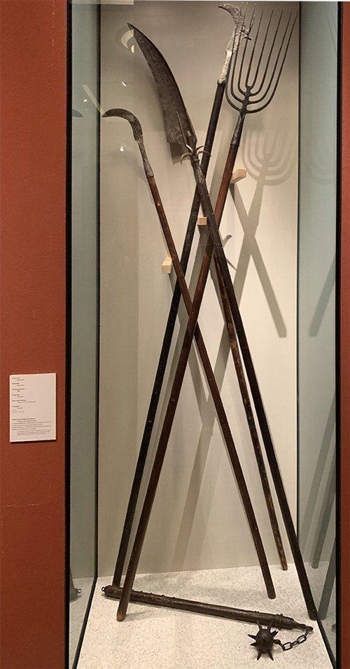 Waffen der aufständischen Bauern 1525