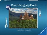 Für den fortgeschrittenen Puzzler: Puzzeln Sie die fotorealistische Rekonstruktion der Burg Drachenfels (Wasgau) des Jahres 1520 aus der Nordostansicht. Sie erhalten ein qualitätsvolles Ravensburger-Puzzle (1000 Teile). Maße des fertigen Puzzles: 69