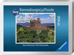 Für den Profi-Puzzler: Puzzeln Sie die fotorealistische Rekonstruktion der Burg Gräfenstein (Südwestpfalz) des Jahres 1520. Ein qualitätsvolles Ravensburger-Puzzle (2000 Teile) in einer metallenen Verpackungsbox. Maße des fertigen Puzzles: 98