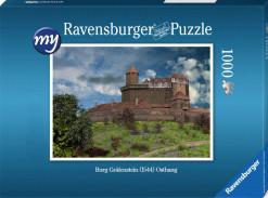 Für den fortgeschrittenen Puzzler: Puzzeln Sie die fotorealistische Rekonstruktion der Burg Gräfenstein (Südwestpfalz) des Jahres 1520 aus Nordwesten. Sie erhalten ein qualitätsvolles Ravensburger-Puzzle (1000 Teile). Maße des fertigen Puzzles: 69