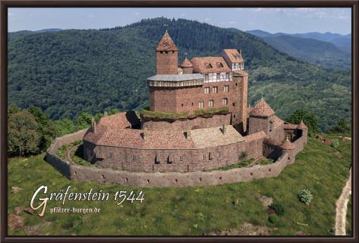 Rekonstruktion der Burg Gräfenstein des Jahres 1544