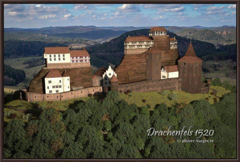 Rekonstruktion der Burg Drachenfels (Wasgau)