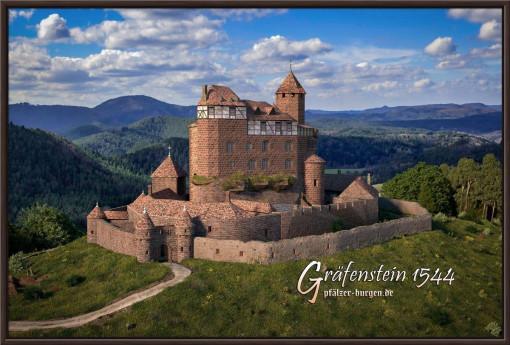 Rekonstruktion der Burg Gräfenstein (Südwestpfalz) des Jahres 1544