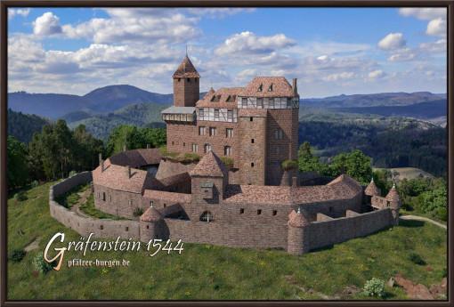 Rekonstruktion der Burg Gräfenstein (Südwestpfalz) dess Jahres 1544