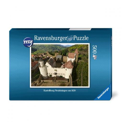 Für den Einsteiger: Puzzeln Sie die fotorealistische Rekonstruktion der Kastellburg Neuleiningen des Jahres 1620 (Vogelperspektive) aus Osten. Sie erhalten ein qualitätsvolles Ravensburger-Puzzle (500 Teile).