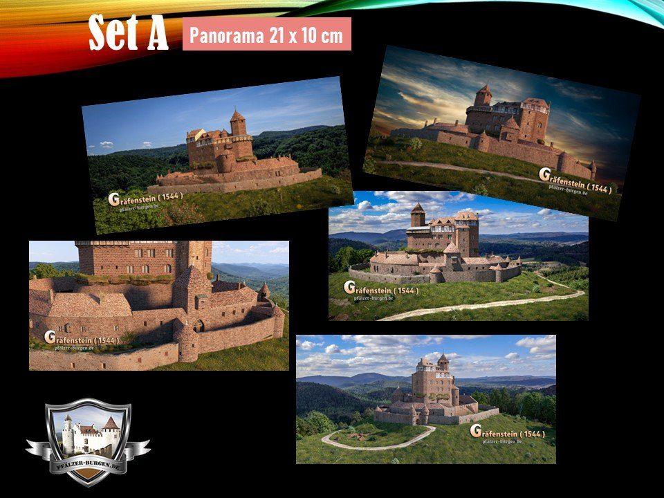 Burg Gräfenstein (1544) - 5er-Postkartenset A