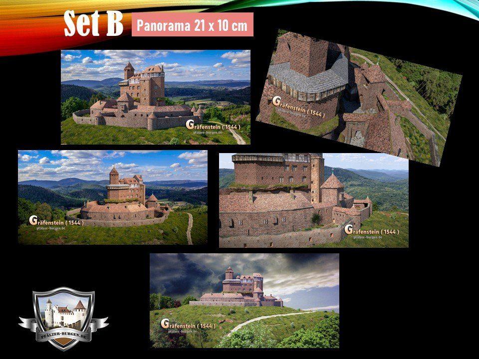 Burg Gräfenstein (1544) - 5er-Postkartenset B