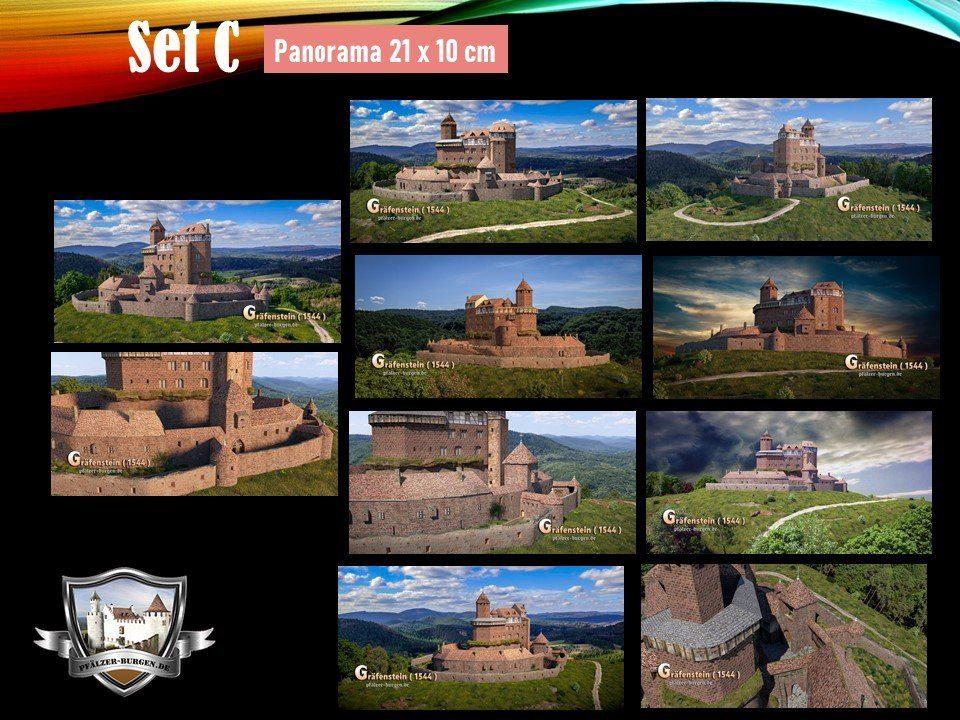 Burg Gräfenstein (1544) - 10er-Postkartenset A+B