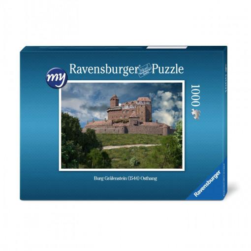 Für den fortgeschrittenen Puzzler: Puzzeln Sie die fotorealistische Rekonstruktion der Burg Gräfenstein (Südwestpfalz) aus Osten betrachet. Sie erhalten ein qualitätsvolles Ravensburger-Puzzle (1.000 Teile). Maße des fertigen Puzzles: 69