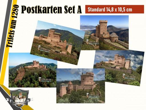 30-10-00-07-S-11_Burg Trifels (1280) - 5er-Postkartenset A_Standard (DIN A6)