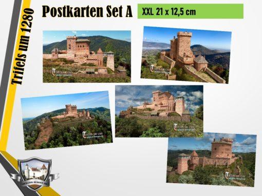 30-20-00-07-S-11_Burg Trifels (1280) - 5er-Postkartenset A_XXL (DIN A5)