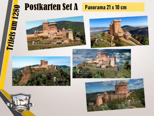 Burg Trifels (1280) - 5er-Postkartenset A - Panorama