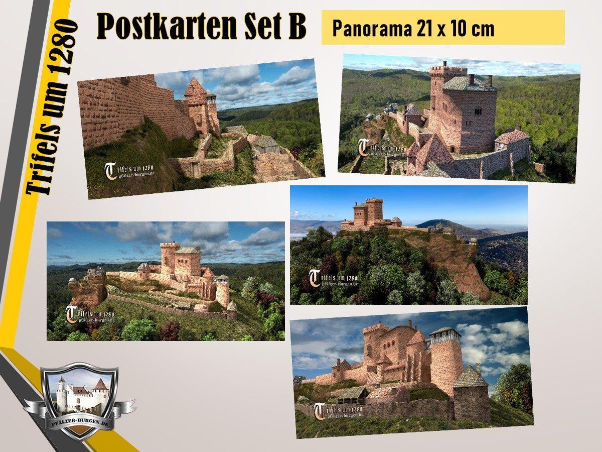 Burg Trifels (1280) - 5er-Postkartenset B