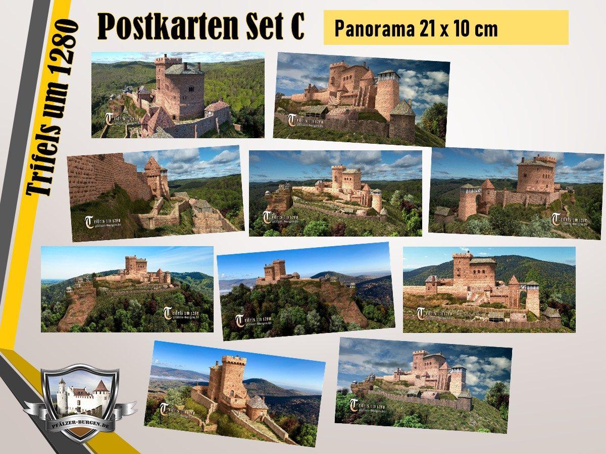 Burg Trifels (1280) - 10er-Postkartenset A+B