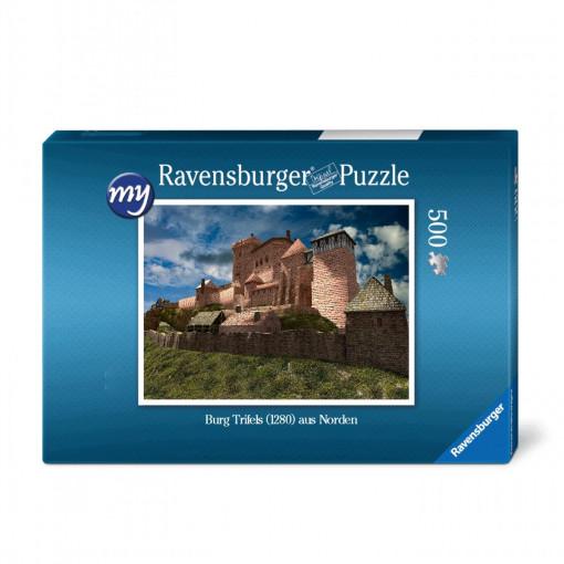 Für den Einsteiger: Puzzeln Sie die fotorealistische  Rekonstruktion der Reichsburg Trifels des Jahres 1280. Sie erhalten ein qualitätsvolles Ravensburger-Puzzle (500 Teile). Maße des fertigen Puzzles: 43