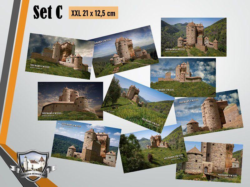 Burg Neudahn (1535) - 10er-Postkartenset A+B