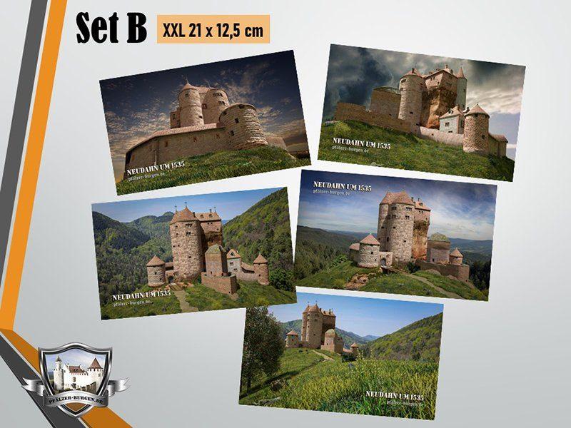 Burg Neudahn (1535) - 5er-Postkartenset B