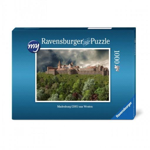 Madenburg (1595) in voller Ausdehnung aus Westen - Ravensburger-Puzzle 1.000 Teile