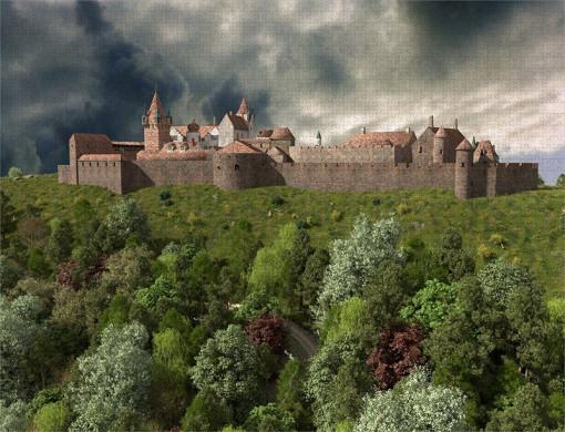 Hauptbefestigungen der Madenburg (1595) aus Westen - Ravensburger-Puzzle 2.000 Teile