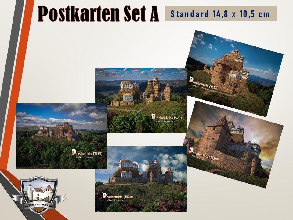 Burg Drachenfels (1520) - 5er-Postkartenset A