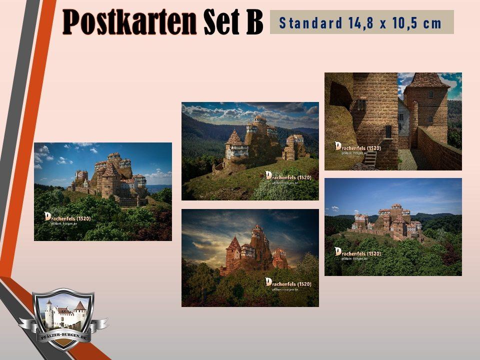 Burg Drachenfels (1520) - 5er-Postkartenset B
