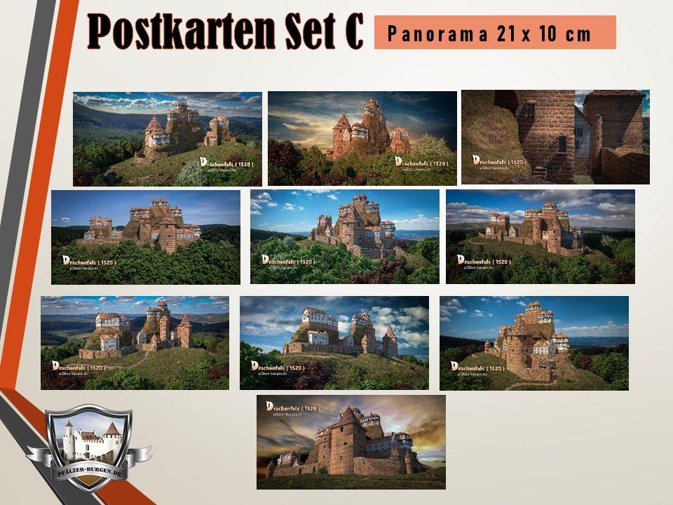 Burg Drachenfels (1520) - 10er-Postkartenset A+B