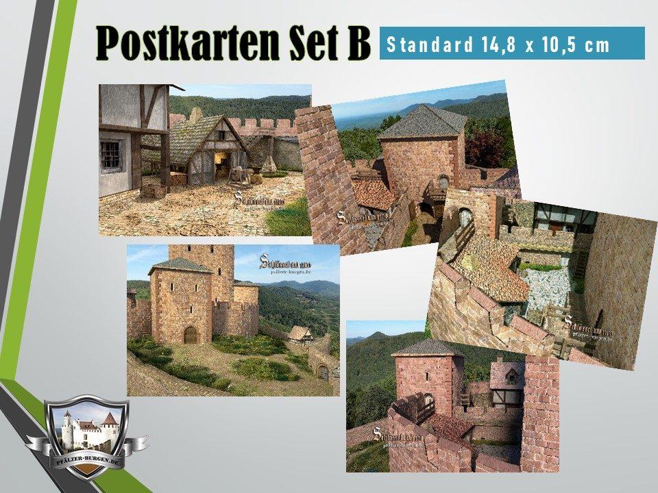 Burg Schlössel (1100) - 5er Postkartenset B