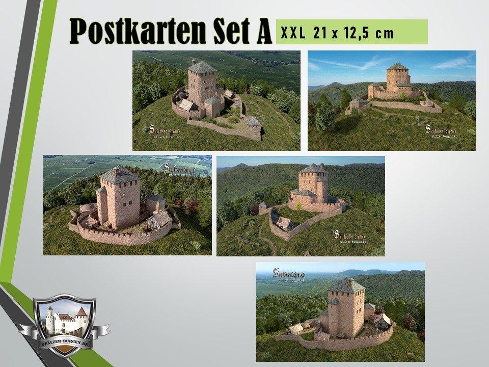 Burg Schlössel (1100) - 5er Postkartenset A
