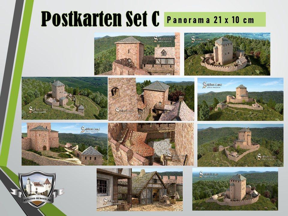 Burg Schlössel (1100) - 10er Postkartenset A+B