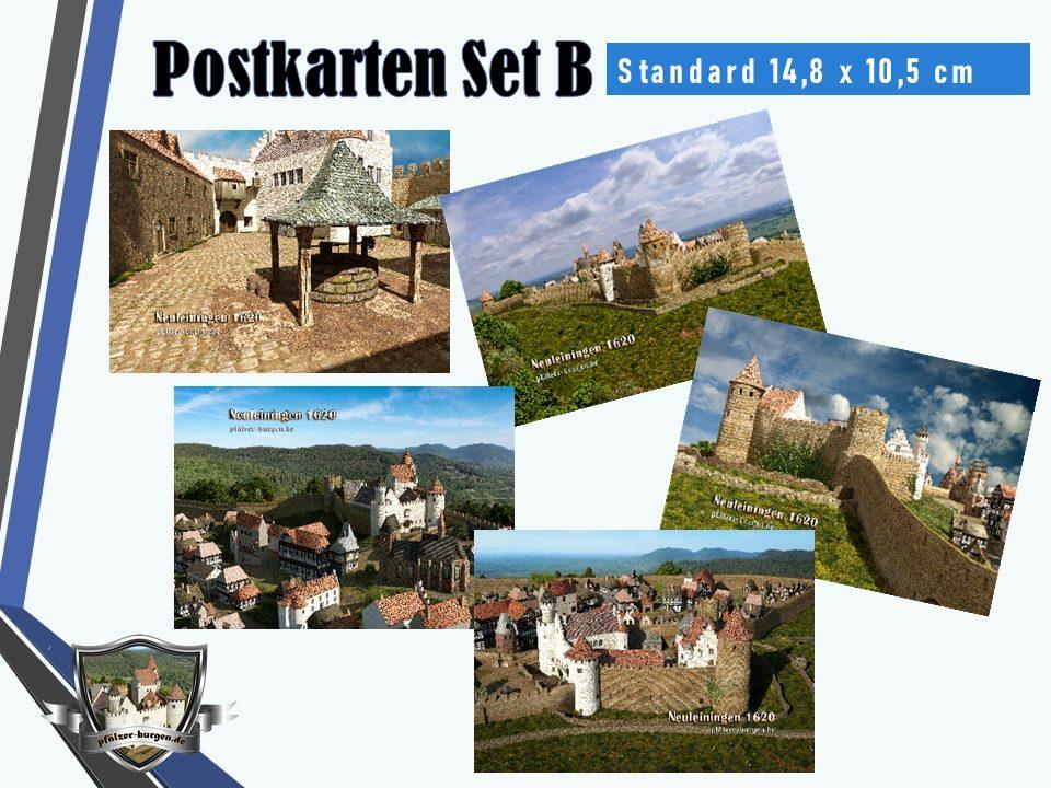 Burg Neuleiningen (1620) - 5er-Postkartenset B