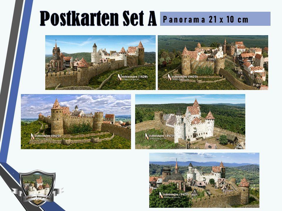 Burg Neuleiningen (1620) - 5er-Postkartenset A