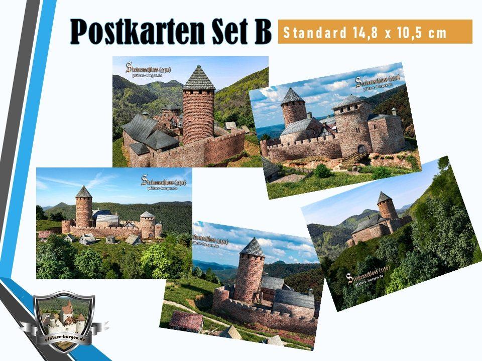 Burg Steinenschloss (1150) - 5er-Postkartenset B