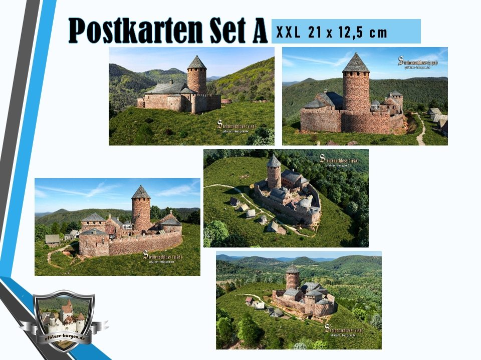 Burg Steinenschloss (1150) - 5er-Postkartenset A