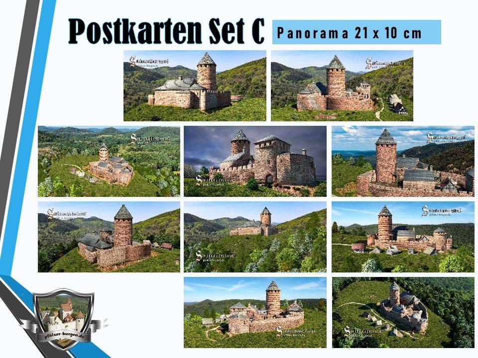 Burg Steinenschloss (1150) - 10er-Postkartenset A+B