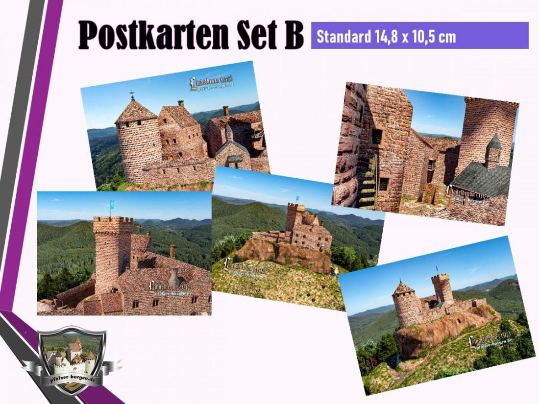 Burg Lindelbrunn (1317) - 5er Postkartenset B