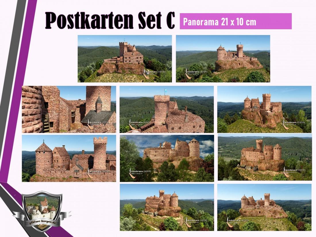 Burg Lindelbrunn (1317) - 10er Postkartenset A+B