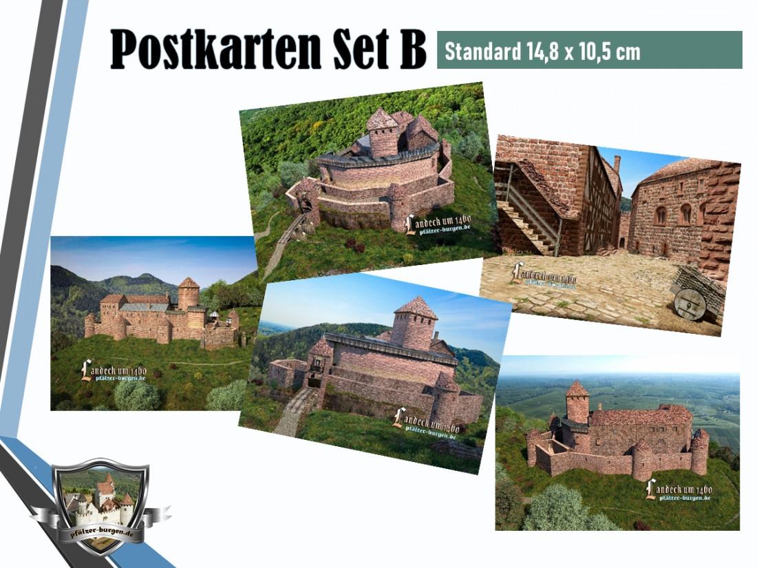 Burg Landeck (1460) - 5er Postkartenset B