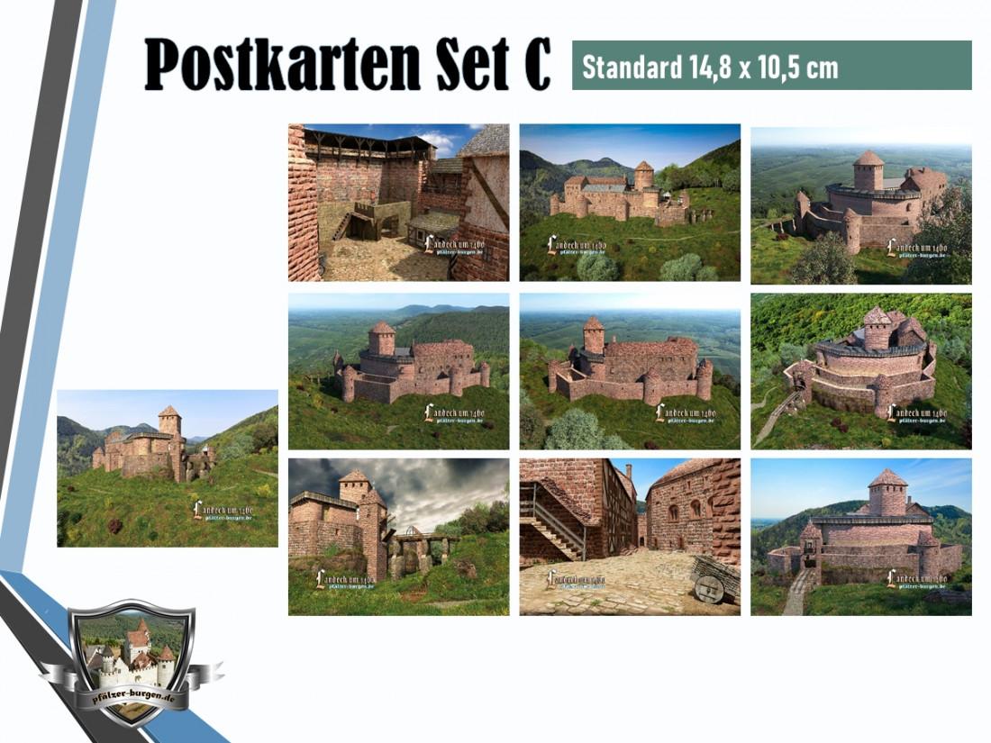 Burg Landeck (1460) - 10er Postkartenset A+B