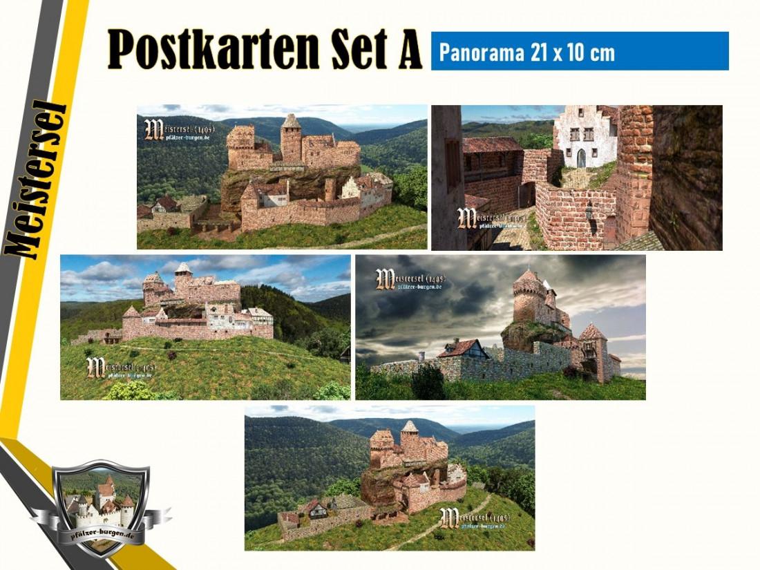 Burg Meistersel (1495) - 5er Postkartenset A