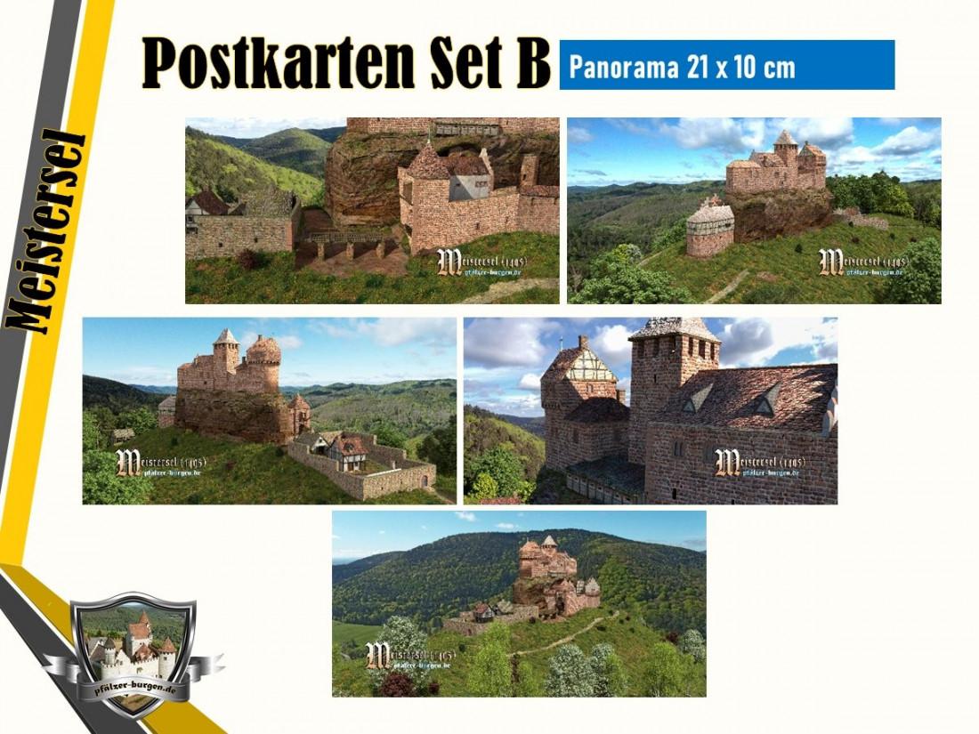 Burg Meistersel (1495) - 5er Postkartenset B