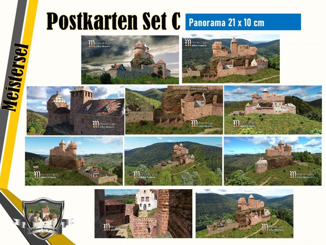 Burg Meistersel (1495) - 10er Postkartenset A+B